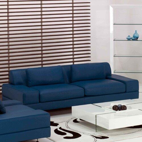 Flat Leather Sofa
