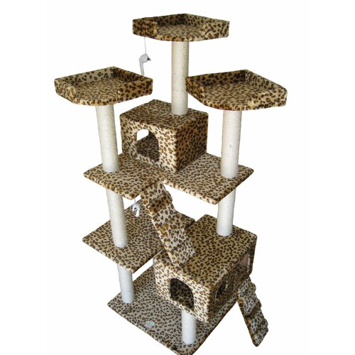 "Go Pet Club 72"" Cat Tree in Leopard"