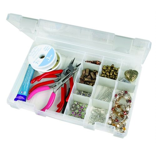 ArtBin Tarnish Inhibitor Medium Four Compartment Box in Translucent