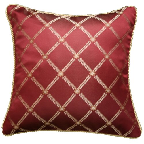 Violet Linen Legacy Damask Design Decorative Cushion Cover
