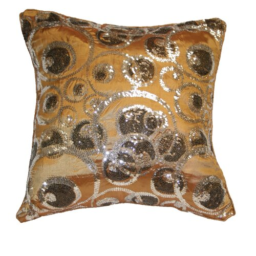 Marvelous Embroidered Sequins Decorative Throw Pillow