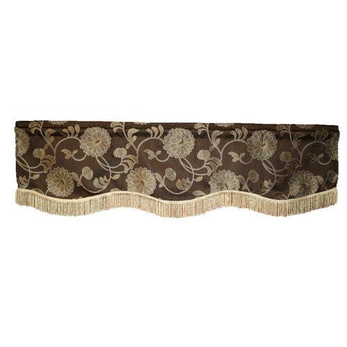 """Violet Linen Legacy Damask Design 60"""" Curtain Valance"""
