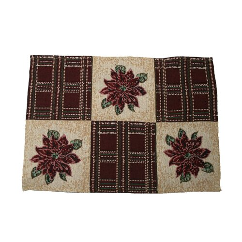 Seasonal Poinsettia Designs Placemat (Set of 4)