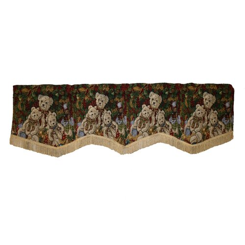 "Violet Linen Seasonal Bear Design 60"" Curtain Valance"