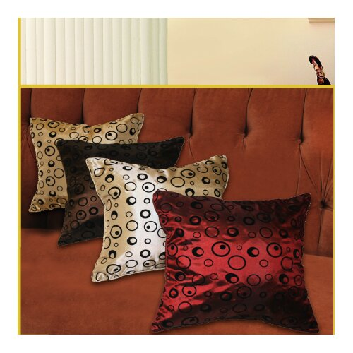 Violet Linen Silky Bombay Design Cushion Cover