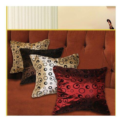 Violet Linen Silky Bombay Design Throw Pillow