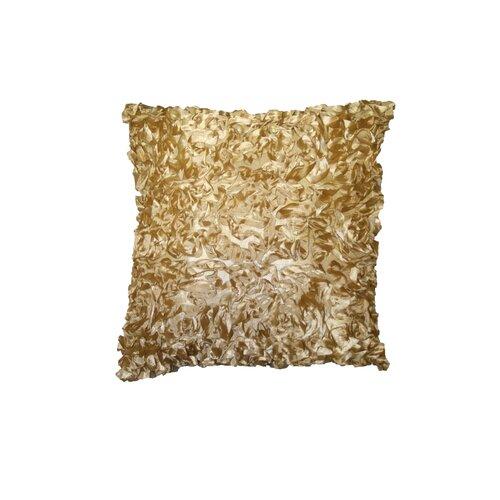 Silky Taffeta Abstract 3D Design Decorative Throw Pillow