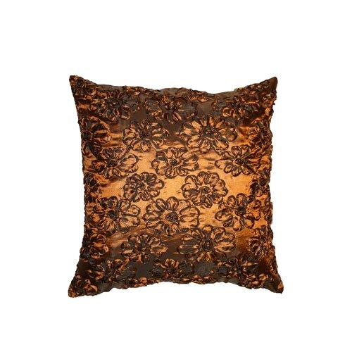 Silky Taffeta Rose 3D Design Decorative Throw Pillow