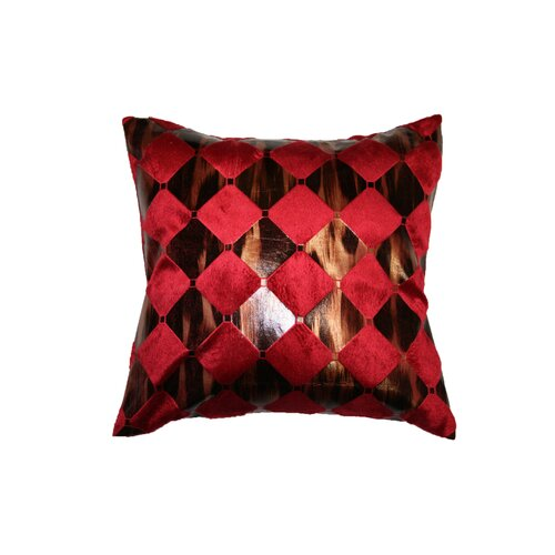 Velvet Hexagon Design Decorative Throw Pillow