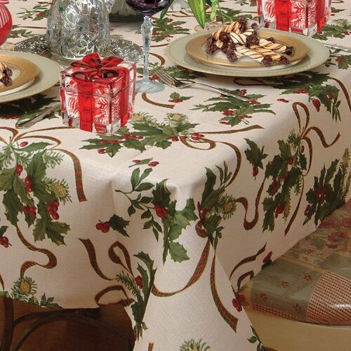 Violet Linen European Seasonal Tablecloth