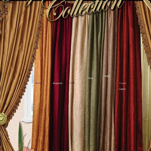 Violet Linen Silky Crushed Curtain Single Panel