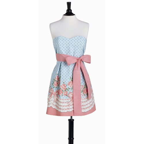 Bows and Roses Bib Strapless Apron