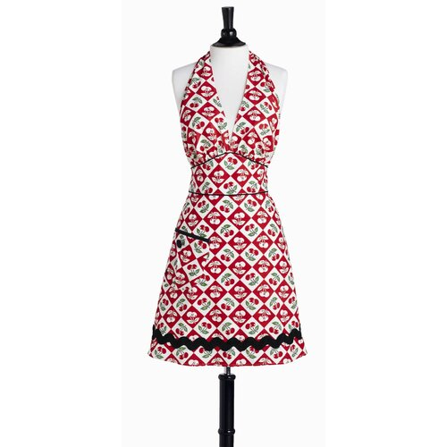 Diamond Cherries Bombshell Apron