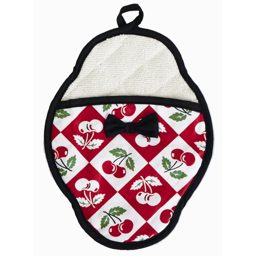 Diamond Cherries Pot Mitt