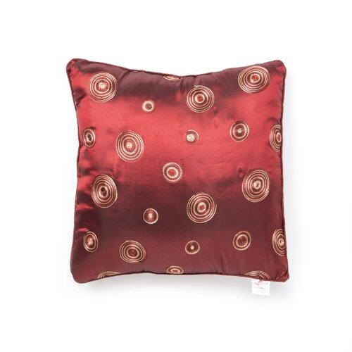 Violet Linen Silky Circle Design Throw Pillow
