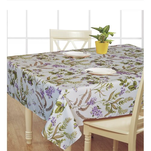 European Hydranges Flower Vintage Design Printed Tablecloth