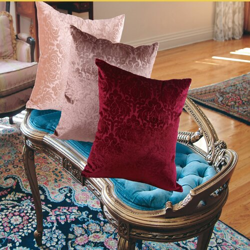 Velvet Vintage Damask Decorative Throw Pillow