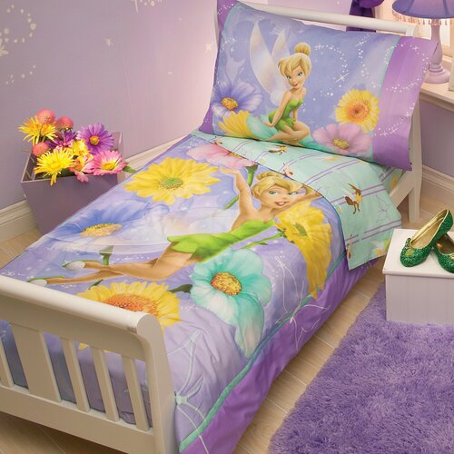 Disney Baby Bedding Tinkerbell Garden Treasures 4 Piece Toddler Bedding Set