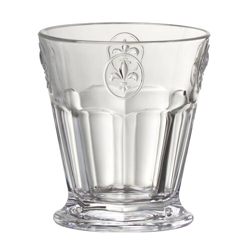 Fleur De Lis Double Old Fashion Glass in Remailer (Set of 6)