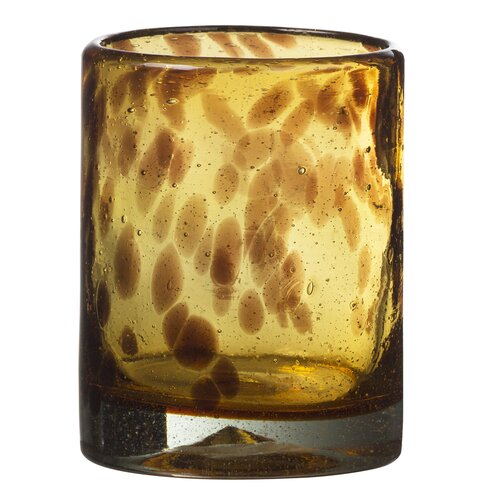 Tortoise Double Old Fashion Glass in Remailer (Set of 4)