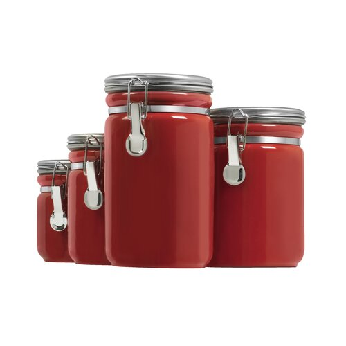 anchor hocking 4 piece canister set amp reviews wayfair