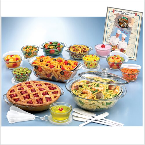 Anchor Hocking Expressions 25 Piece Ovenware Set