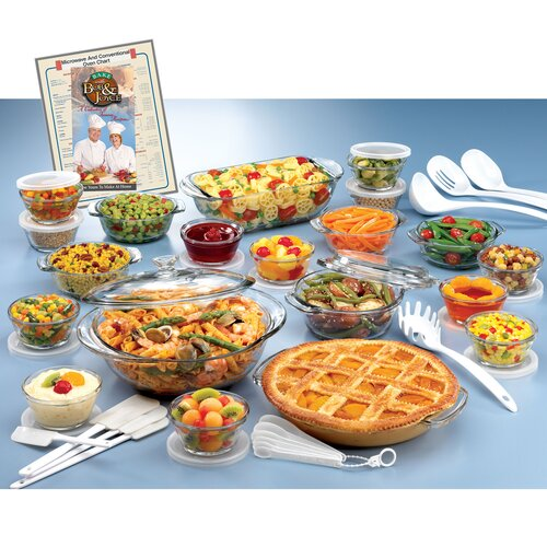 Anchor Hocking Anchor Hocking 50 Piece Expressions Deluxe Ovenware Set