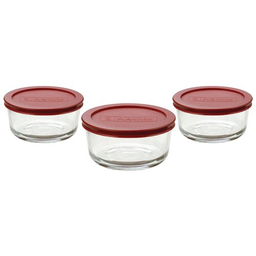 Anchor Hocking 6 Piece Round Kitchen Storage Container Set