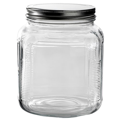 Anchor Hocking 2 Qt Clear Glass Cracker Jar