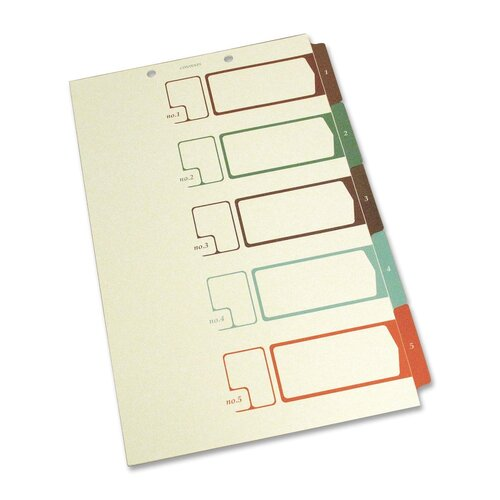 S J Paper Speedex Side Tab TOC Divider