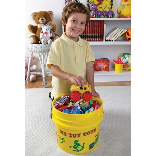 Portable Toy Tote and Lid