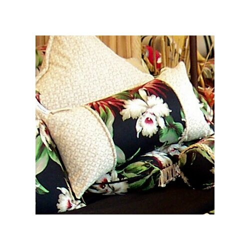 Orchids 3 Panel Cotton Pillow