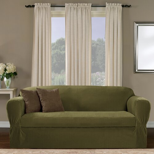 Maytex Collin Stretch Separate Seat Loveseat Slipcover
