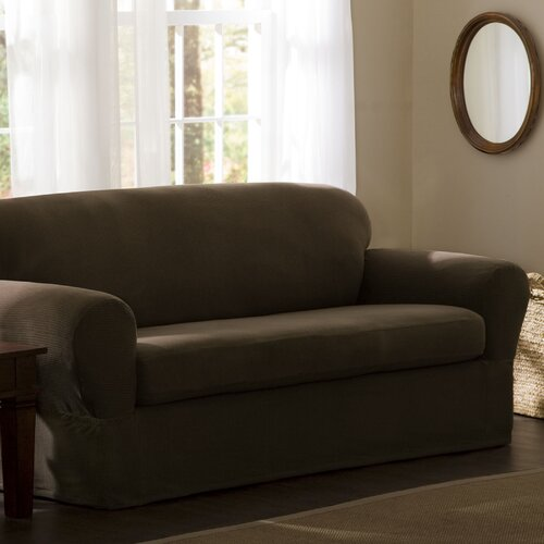 Maytex Reeves Stretch Two Piece Loveseat Slipcover