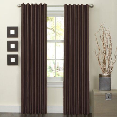 Maytex Faux Silk Rod Pocket Curtain Panel Pair