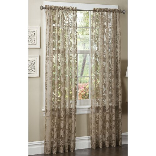 Maytex Pamela Rayon Rod Pocket Curtain Single Panel