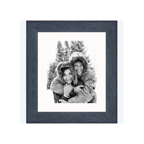 "Frames By Mail 8"" x 10"" Rustic Wire Brush Frame in Black"