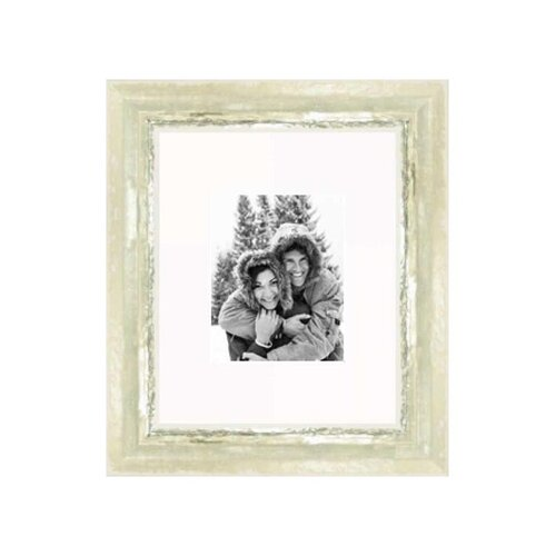 """Frames By Mail 16"""" x 20"""" Frame in Ivory and Moss Silver"""