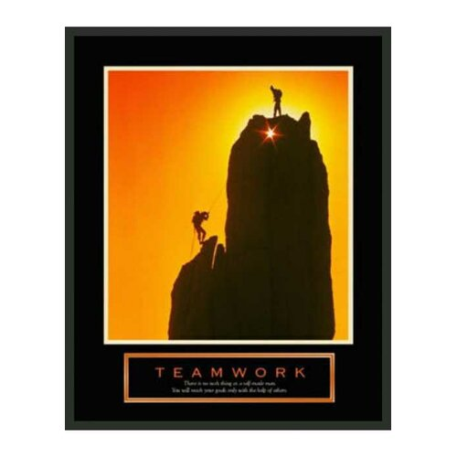 Frames By Mail Motivational Teamwork Framed Photographic Print