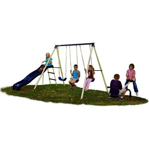 flexible flyer triple fun swing set reviews wayfair