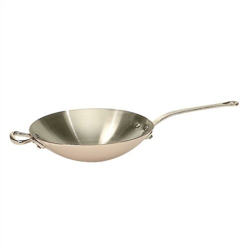M'heritage Cuprinox 2.1-Quart Wok With Bronze Handle