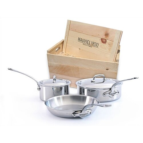 Mauviel M'Cook 5-Ply Stainless Steel 5 -Piece Cookware Set