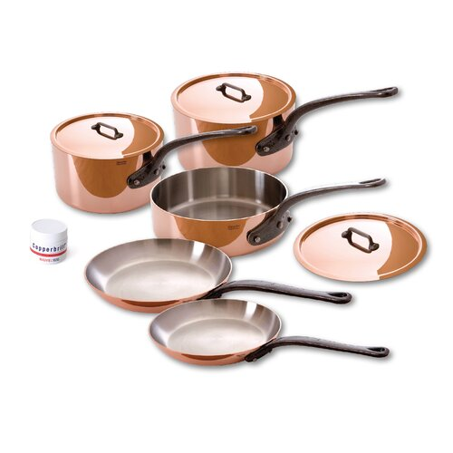 Mauviel M'Heritage Stainless Steel 8-Piece Cookware Set