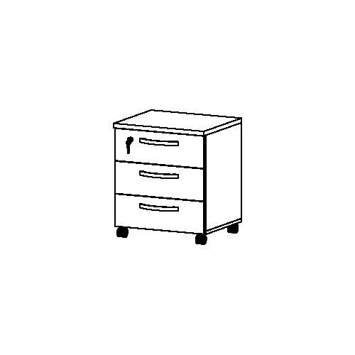 Tvilum Box 3 Drawer Mobile Filling Cabinet
