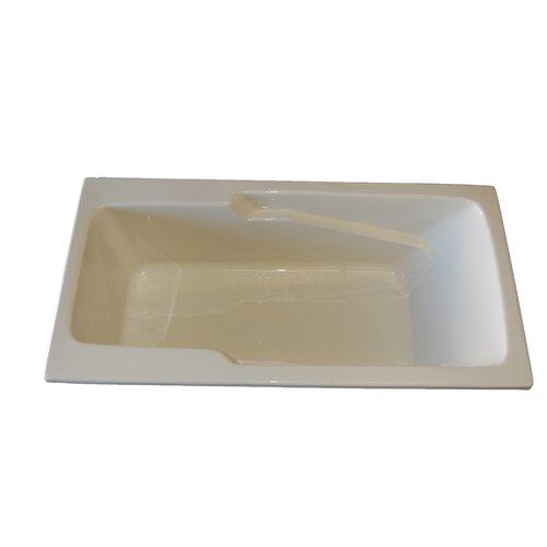 "American Acrylic 60"" x 30"" Soaker Armrest Bathtub"