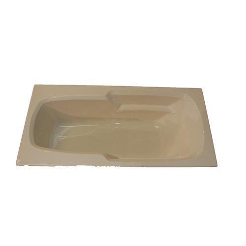 """American Acrylic 66"""" x 32"""" Arm-Rest Whirlpool Tub"""
