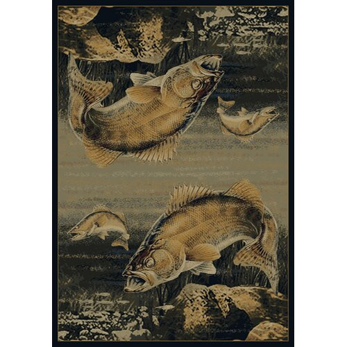 Buckwear Buckwear Walleye Predator Lodge Novelty Rug
