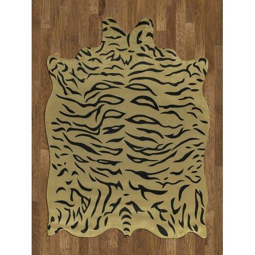 Acura Rugs Animal Hide Yellow/Black Tiger Rug