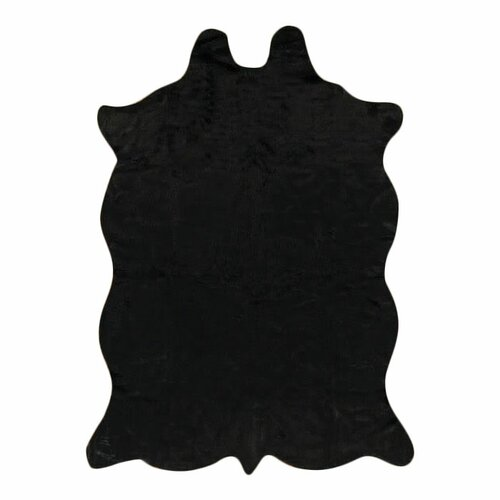 Animal Hide Black Rug