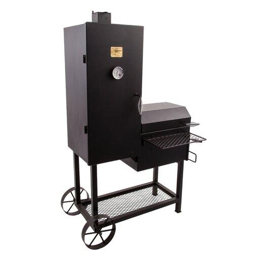 char broil oklahoma joe 39 s bandera offset charcoal smoker and grill. Black Bedroom Furniture Sets. Home Design Ideas